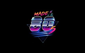 Picture Minimalism, Background, 80s, Neon, 80's, Synth, Retrowave, Synthwave, Made in the 80's, New Retro Wave, …