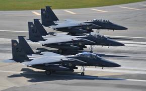 Picture Fighter, USAF, F-15E Strike Eagle, Elephant Walk