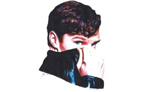 Picture look, figure, collar, Benedict Cumberbatch, Benedict Cumberbatch, by shuploc