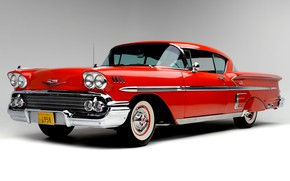 Picture Chevrolet, The hood, Lights, Classic, Bel Air, Impala, Classic car, 1958, Grille, Chevrolet Bel Air …