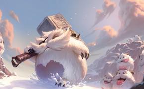 Picture snow, being, Legends of Runeterra