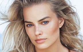 Picture look, girl, face, actress, Margot Robbie