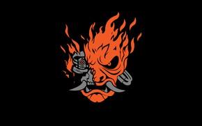Picture logo, samurai, cyberpunk 2077