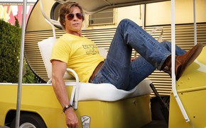 Picture jeans, glasses, Brad Pitt, Brad Pitt, once upon a time in hollywood, once in Hollywood, …