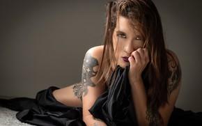 Picture girl, tattoo, Adriana