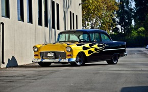 Picture Chevrolet, Bel Air, Coupe, Tuning, 1955