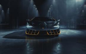 Picture the dark background, Lamborghini, car, Centennial