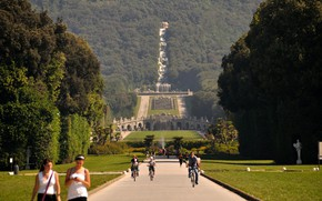 Picture Park, Italy, cascade, fountains, Royal Palace, Caserta