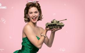 Picture spring, World of Tanks, Olga