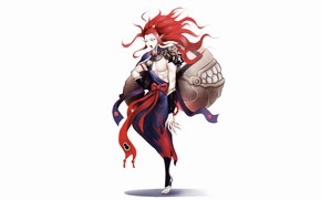 Picture background, fangs, white background, guy, Onmyouji, Onmyoji, Onmyouji (NetEase), Shutendouji