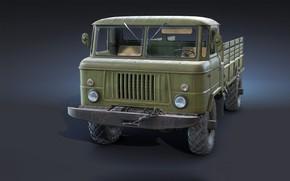 Picture machine, truck, Freelance, GAZ-66 Flatbed, Ryzhkov