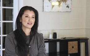 Picture look, pose, background, model, actress, Kelly Hu, view, model, hair, pose, actress, Kelly Hu