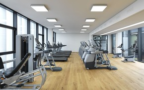 Picture gym, exercise bike, fitness center