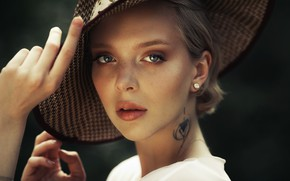 Picture Girl, hat, tattoo, Karen Abramyan