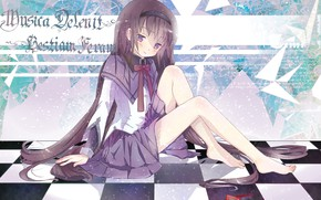 Picture anime, girl, sitting