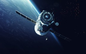 Picture Station, Space, Earth, Surface, Art, Space, Art, Earth, Surface, Station, Orbit, Union, Spaceship, Spaceship, Space ...