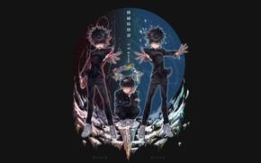 Picture anime, art, guy, student, Mob Psycho 100, Kageyama Shigeo, Mob psycho 100