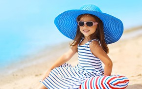 Picture mood, hat, glasses, girl