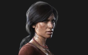 Picture Grey background, Chloe Fraser, Uncharted Lost Legacy