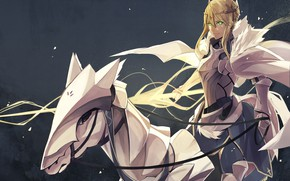 Picture horse, anime, art, The saber, Fate/Grand Order, fate/grand order, The destiny of a great campaign