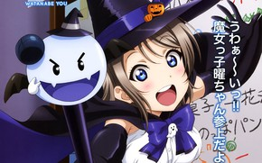 Picture joy, characters, Halloween, staff, witch hat, witch, Love Live! School Idol Project, You Watanabe