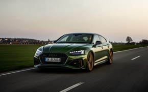 Picture road, field, grass, Audi, RS 5, 2020, RS5 Sportback