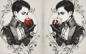 Picture Apple, guy, Snow white and the seven dwarfs, by fioletovyy