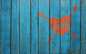 Picture love, the fence, love, picture heart