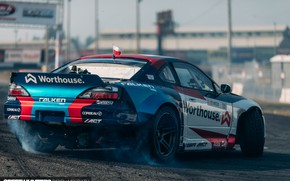 Picture S15, Silvia, Nissan, rear view, Formula Drift, Larry Chen