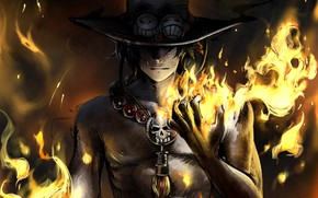 Picture fire, guy, One Piece