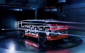 Picture Audi, 2018, wind tunnel, E-Tron Prototype