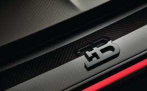 Picture Bugatti, emblem, logo, 2018, Sport, Chiron