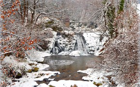 Picture Winter, Waterfall, Snow, Winter, Snow, Waterfall
