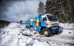 Picture Winter, Snow, Sport, Speed, Truck, Master, Russia, 500, Kamaz, Rally, KAMAZ-master, Rally, KAMAZ, The roads, …