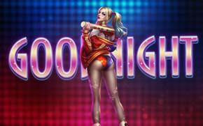 Picture Girl, Minimalism, Figure, Girl, Bit, Legs, Art, Harley Quinn, Sexy, Figure, Character, Harley Quinn, DC …