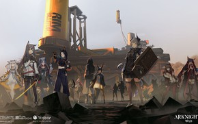 Picture weapons, girls, group, creatures, Arknights
