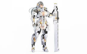 Picture Girl, Sexy, Art, Berserk, Knight, Minimalism, Cyborg, Sword, Characters, Armor, Ren Wei Pan