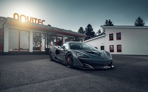 Picture lights, building, McLaren, sports car, drives, Novitec, 600LT