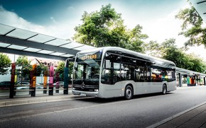 Picture transport, bus, Mercedes Benz, stop, ELECTRIFY eCitaro