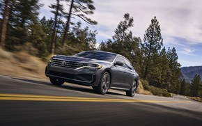 Picture asphalt, Volkswagen, sedan, Passat, 2020, 2019, dark gray, US Version