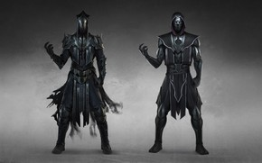 Picture Minimalism, Style, Warrior, Fighter, Style, Warrior, Fiction, Mortal Kombat, Fiction, Illustration, Character, Noob Saibot, Fighter, …