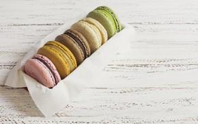 Picture box, colorful, box, dessert, wood, sweet, dessert, macaron, macaron