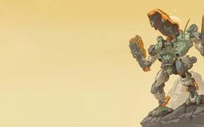 Picture Robot, Fantasy, Gun, Art, Art, Robot, Fiction, Bot, Weapon, Mech, Bot, by Robbie Trevino, Heavy …