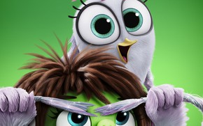 Picture glasses, bird, pig, edge, The Angry Birds Movie 2