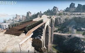 Picture road, bridge, stones, ruins, Battlefield V