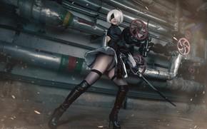 Picture girl, cosplay, Kristina Borodkina, based on the game, NIER Automata