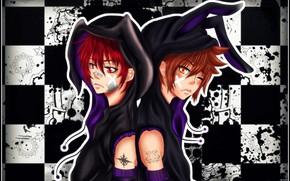 Picture background, guys, Katekyo Hitman Reborn, patches, Teacher mafia Reborn