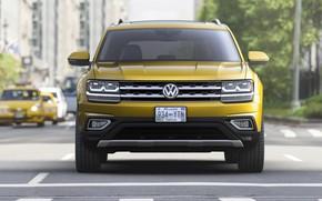 Picture yellow, Volkswagen, crossroads, Atlas, 2017