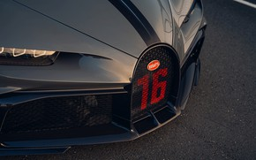 Picture the hood, Bugatti, before, grille, Chiron, 2020, Chiron Pur Sport