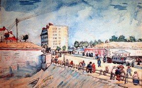 Picture Vincent van Gogh, Paris Ramparts, Gate in the